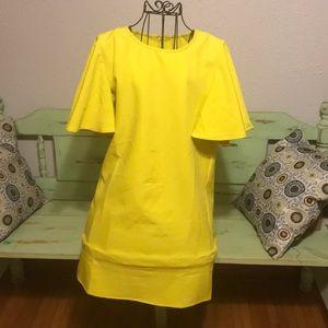 Shein yellow bell dress